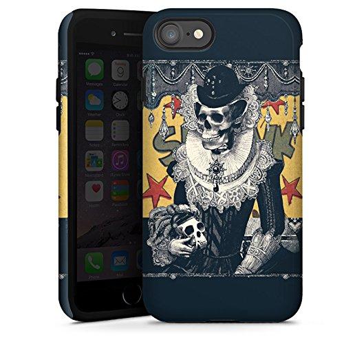 Apple iPhone X Silikon Hülle Case Schutzhülle Totenkopf Schädel Skull Tough Case glänzend