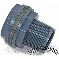 Jardiboutique - Pasamuros de PVC (para tubería de diámetro 32mm o rosca de 11/4pulgadas)