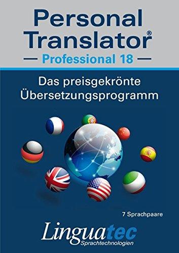 Personal Translator Professional 18: Preisgekröntes Übersetzungsprogramm für Windows - Inklusive 7 Sprachpaare (Deutsch-Englisch, Deutsch-Französisch, Englisch-Französisch, Englisch-Italienisch, Englisch-Portugiesisch, Englisch-Spanisch, Englisch-Chinesisch) - Sichere Übersetzungen für höchste Ansprüche mit umfangreichen und erweiterbaren Wörterbüchern, mit Translation Memory, Business English Datenbank, Sprachausgabe und Microsoft® Office Integration (Englisch-portugiesisch-übersetzer)