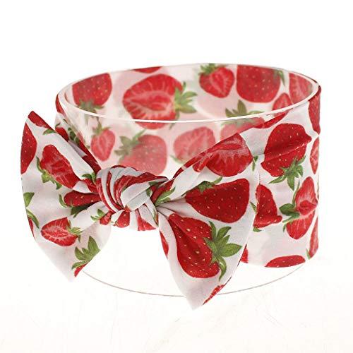Lazzboy Kleinkind Baby Mädchen Bowknot Stirnband Stretch Haarband Headwear Blumen Schleife Baumwolle Mehrfarbig Verknotet Kopfband Haarschmuck Turban Top Knot Head Wrap(E) (Crochet Hats Womens)