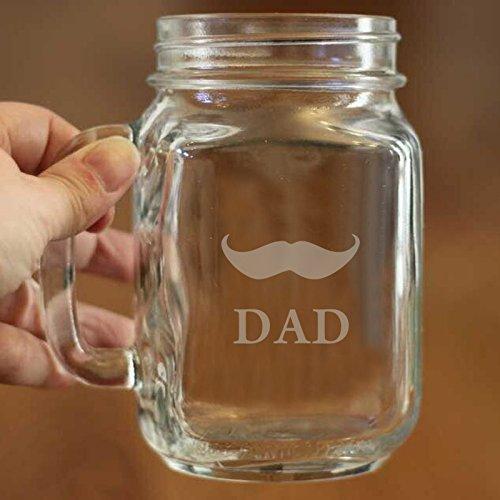 16Oz Dad Fathers Day Geschenkidee Gravur Mason Jar Bier Becher Personalisierte Trinken Glas geätzt Geschenk für Vater Opa Kinder Geburt Daten Persönlichen Geschenk für Papa (Mason Jar-cup Für Kinder)