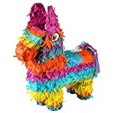 CrazyGadget® Rainbow Pinata Donkey Mexican El Burro Small Party Accessories Sweets Favours Decoration - 32cm x 41cm - Ideal for Children\'s Birthday Parties, Cinco De Mayo, Fiestas and Celebrations