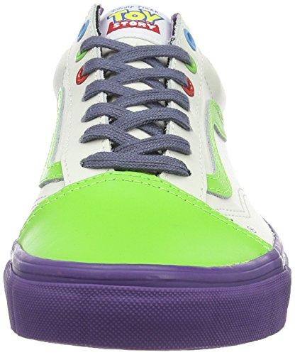 Vans Sk8-hi Reissue, Unisex-Erwachsene Sneaker Mehrfarbig (Toy Story) Buzz Lightyear/true White)