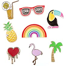 10 Piezas de Moda Lindo Cartoon Pin Solapa Set DIY Broche Pins para Ropa Bolsas Mochilas