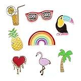 12 piezas de moda lindo Cartoon PIN solapa Set DIY broche Pins para ropa bolsas mochilas sombreros jeans chaqueta