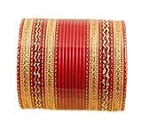 Touchstone 2 douzaines de bracelets de collection en alliage de métal texturé chaud rouge des bijoux de créateur bracelets spéciaux pour femme 2.75 Lot de 2 Grand Rouge...