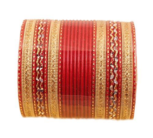 Touchstone 2 Dutzend Armreifsammlungslegierungsmetall maserte spezielle Armreifarmbänder des heißen roten Entwerferschmucks für Damen 2.62 Set 2 groß rot