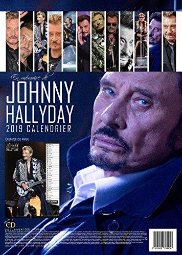 A + Johnny Hallyday Calendrier 2019(en français) Grande (A3) Taille Poster Calendrier mural NEUF ET usine fermé
