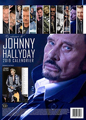 JOHNNY HALLYDAY CALENDAR 2019 LARGE (A3 ) SIZE POSTER WALL CALENDAR BRAND NEW & FACTORY SEALED