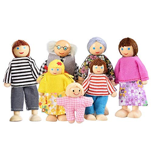 penhaus Puppen, Puppenfamilien für Kinder Spiel Haus Geschenk Holz ()