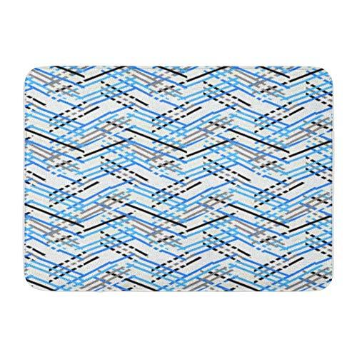 Kanaite Badteppich Flanell Stoff weich saugfähig bunt Chevron Muster gestreift linear geometrische Streifen und Linien Zickzack gemütlich dekorativRutschfester Memory-Badteppich (Chevron Flanell-stoff)