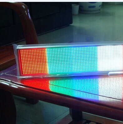 13.4inch 14*56 Dots Led Light Text Message Scrolling Running Sign Store Display/Business Advertising Publicity Screen Tag /Programmable Rechargeable Write Any Languages (mixed color(left to right