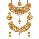 #3: Reeva Combo Bridal Wedding Necklace Jewellery Set Earrings for Women