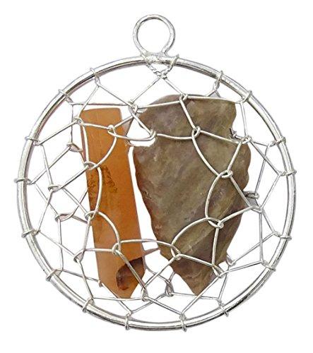 Harmonize Achat Stein Handcrafted Wire Wrap Runde Pfeilspitze Reiki Kristall Anhänger Halskette Schmuck (Rote Pfeilspitze Halskette)