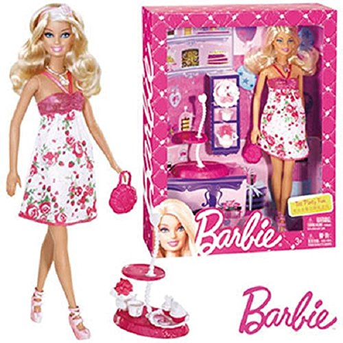 Barbie Party Tee (Mattel MATTEL barbie Tee Party Fun mit Zubehor X3227)