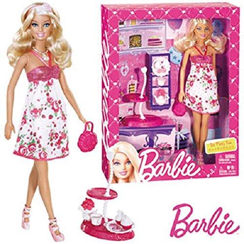 Party Barbie Tee (Mattel MATTEL barbie Tee Party Fun mit Zubehor X3227)