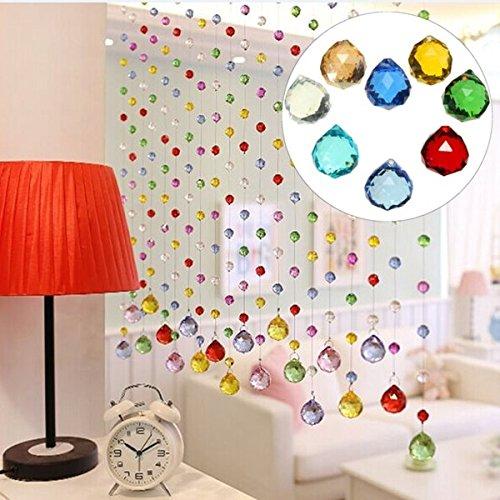 Bazaar 20mm 8 Kristallglas Kronleuchter Licht Kugel Prisms Suncatcher Tropfen Anhänger Set
