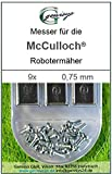 9 Messer Ersatzmesser Ersatz-Klingen 0,75mm für McCulloch Rob R600 R1000 Mc Culloch