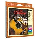 Alice - Cordes pour les guitares folk, acoustiques et electro acoustiques PHOSPHOR BRONZE avec de placage empecher corrosion. Medium 13/56