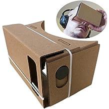 Fulltime (TM) DIY de 15 cm para Google Caardboard, lentes 3d VR de Realidad Virtual tablero para Samsung Motorola.