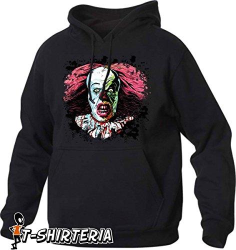 felpa con cappuccio Tribute Tribute film Horror, Clown, Pagliaccio tutte le taglie uomo donna maglietta by tshirteria S M L XL XXL maglietta by tshirteria nero