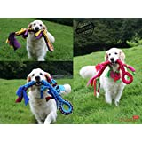 DOG TUG ROPE TOY Lizard toy Tugger Tug & Chase Rope SMALL: 40cm/16in, LARGE: 70cm/27in HAND MADE Soft plaited Flexible FLEECE DOG TOY IN VARIOUS