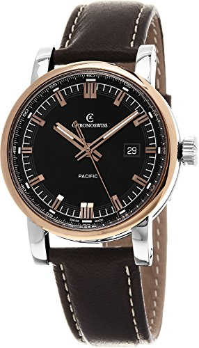 Chronoswiss Men's 40mm Calfskin Band Steel Case Automatic Watch CH-2882R-BK2