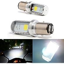Bulbos de Grandview BA20D LED, bulbos de la linterna delantera de la motocicleta BA20D de