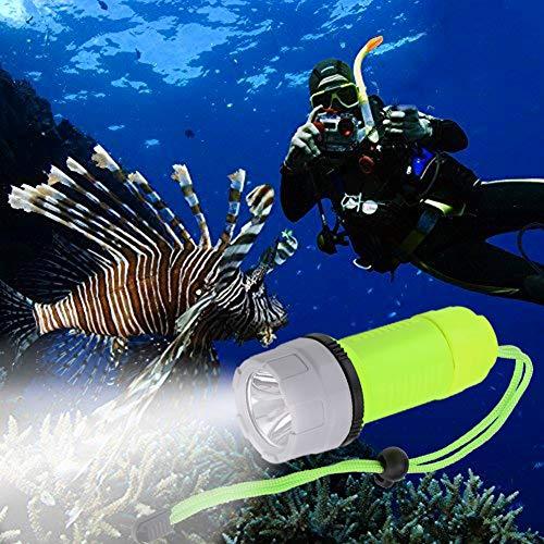serliy Outdoor Unterwasser LED Tauchen Tauchen Taschenlampe Wasserdichtes Neuestes -