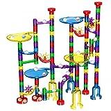 Glonova Knikkerbanen Marble Run Stel, 127 Stuks Marmeren Racebaan DIY-Speelgoed met Glass Bouw Blokken Marmeren Werkset voor Kinderen Jongens Meisjes Kind 3 jaar +