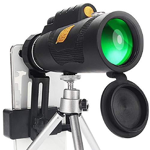 Vaycally 12x50 wasserdichtes Spektiv - Prismenfernrohr für Vogelbeobachtung Zielschießen Bogenschießen Outdoor-Aktivitäten Stativ Geeignete Modelle: Universal-Handy