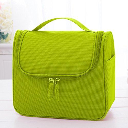 % @ HUAZHUNG - Cosmetic Bag di grande capienza portatile donne della Corea Travel Bag Wash grande borsa Cosmetic Bag D