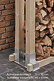 2er Set Brennholz-Stapelhilfe aus verzinktem Stahl - Kaminholz Feuerholz Stapel Hilfe