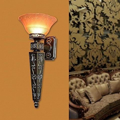 LLHZ continentale-corridoio creativa del corridoio balcone lampada da parete disegno vetro incisione rose lampada da parete a led