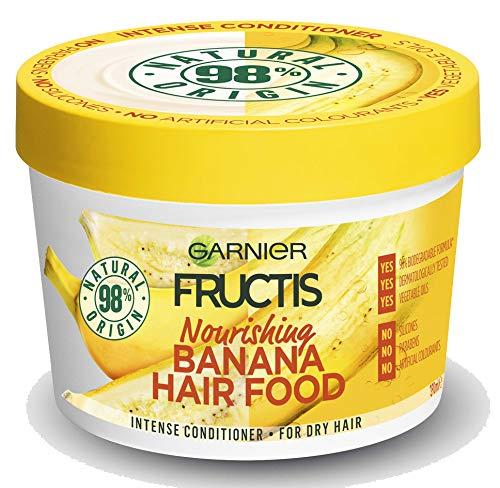Fructis Hair Food Banana Maske Nährende 3in 1mit Formula Vegan für trockenes Haar-390ml -