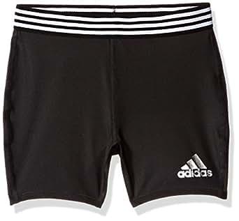adidas Big Girls' Short Tight, Caviar Black, XS
