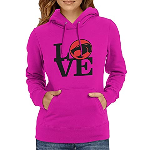 TEXLAB - Thunder Love - Damen Kapuzenpullover, Größe L, fuchsia (He-man-kostüm Für Kinder)