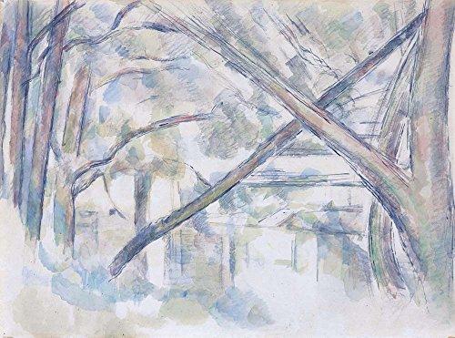 Das Museum Outlet-Crossing Bäume auf die Banken der Eau, 1896-Poster (mittel)