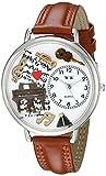 Whimsical Watches - U-0510007 - Montre Mixte - Quartz - Analogique - Bracelet Cuir Multicolore