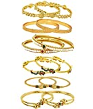 #6: YouBella Gold Plated Bangles Combo of 6 Bangles Jewellery FprGirls/Women
