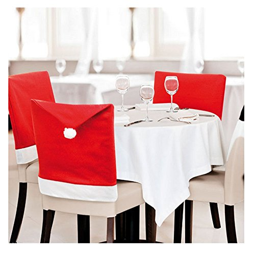 Distinct® Noël Chapeau de Père Noël président Retour Covers Pour Xmas Family Dinner Party Accueil Décoration de table