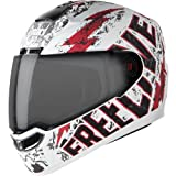 Steelbird SBA-1 Free Live Matt White with Red with Smoke visor,580mm