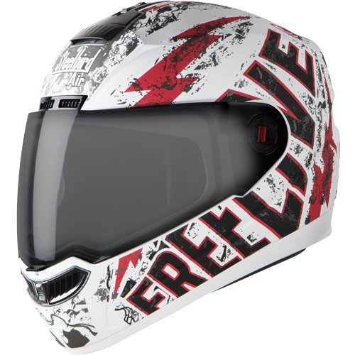 Steelbird Helmet SBA-1 Free Live with Plain Visor and Matt Finish (Medium 580 MM, Matt White with Red)