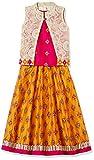 Karigari Girl's A-Line Regular Fit Cotton Salwar Suit Set (273321723 _Orange_03Y)