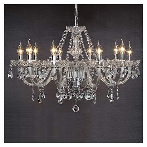 Mpotow 10-lights Esszimmer Schlafzimmer Wohnzimmer Kronleuchter American Marie Therese 10 Arme klare Geniune Kristallglas Droplets Deckenpendelleuchte Hängende Beleuchtung E14