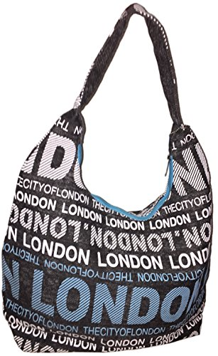 Robin Ruth, Borsa a spalla donna Multicolore multicolore, blu bianco (Multicolore) - BE574-B blu bianco