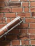 REAGONE Wall Paper Selbstklebendes moderne Toilette Heim Schrankwand Live-Large Volume Farbe Hintergrund Familie Öl-Licht, ungiftig, 10 Meter vom Ziegel, Große Coffee.619417