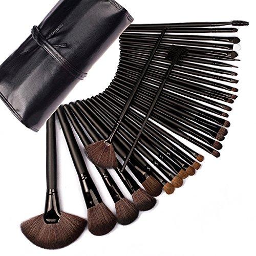 Aisi Damen Professionelles 32 pcs Make Up Pinsel Set,Werkzeuge,Foundation Gesichtpinsel Augenpinsel Lippenpinsel Lidschatten Brush - Extra Rollen Große Haar