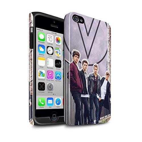 Offiziell The Vamps Hülle / Glanz Harten Stoßfest Case für Apple iPhone 4/4S / Pack 5Pcs Muster / The Vamps Doodle Buch Kollektion Ausgeschnitten