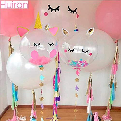 Globos de unicornio transparente Tyro Huiran con diseño de confeti, globos de látex baratos, balón de baño, regalos de ducha de bebé, decoración de fiesta de unicornio